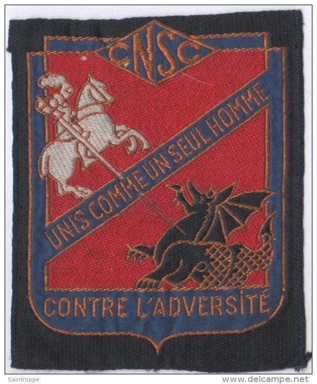 Ecusson Tissu.CNSC.Comité National De Solidarité Des Cheminots.SNCF.Chemin De Fer. - Patches