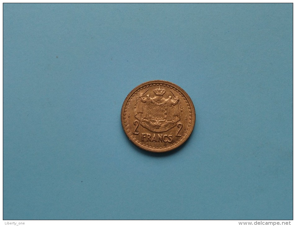 1945 - 2 Franc / KM 121a ( Uncleaned - For Grade, Please See Photo ) ! - Monaco