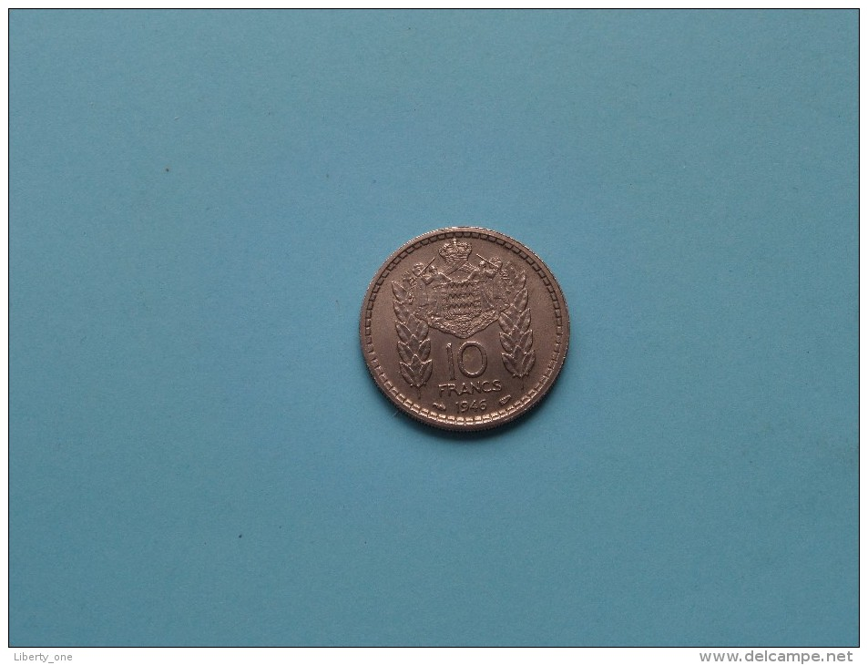 1946 - 10 Franc / KM 123 ( Uncleaned - For Grade, Please See Photo ) ! - Monaco