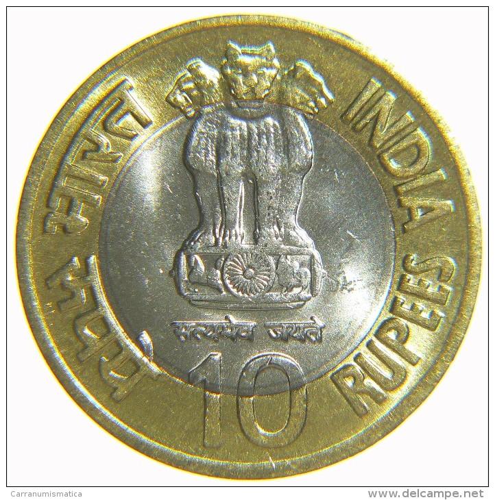 [NC] INDIA 10 RUPIE 2009 - BIMETALLICA - HOMI BHABHA (nc1667) - India