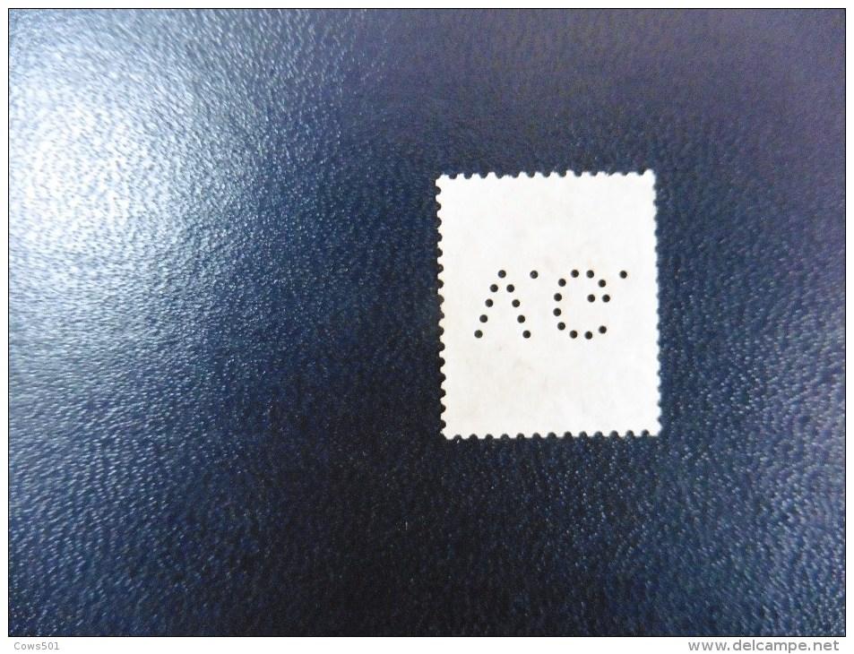 Belgique :Timbre N°60   Perforé   V.G  Oblitéré - Lochung