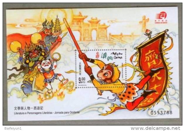 Macau Macao 2000 Journey To The West S/S - Story Monkey - 1999-... Chinese Admnistrative Region