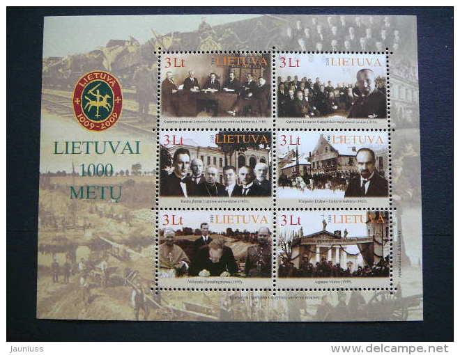 Lietuva Litauen Lituanie Litouwen Lithuania 2008 MNH # Mi. 974/9 Block 36 Millennium Of Lithuania. - Lithuania