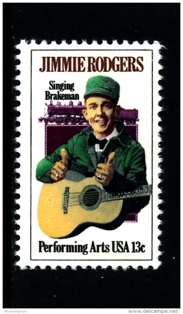 UNITED STATES/USA - 1978  JIMMIE RODGERS  MINT NH - Stati Uniti