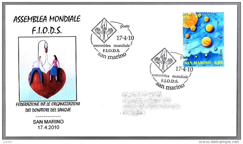 Asamblea Mundial DONANTES DE SANGRE - Federation Blood Donors. San Marino 2010 - Salud