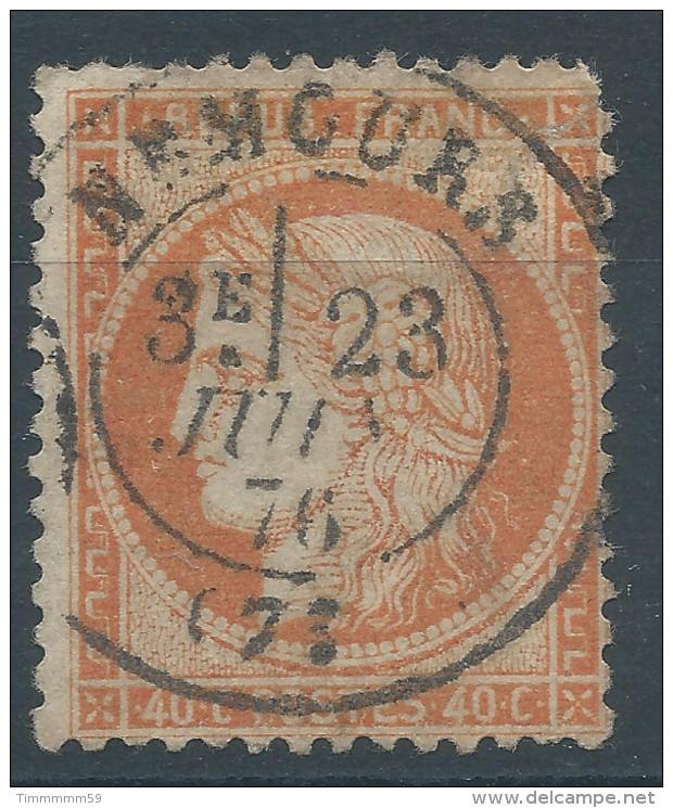Lot N°30833  Variété/n°38, Oblit Cachet à Date De NEMOURS (73), Fond Ligné ??? - 1870 Siege Of Paris