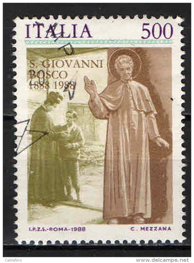ITALIA - 1988 - S. GIOVANNI BOSCO - USATO - 1981-90: Oblitérés