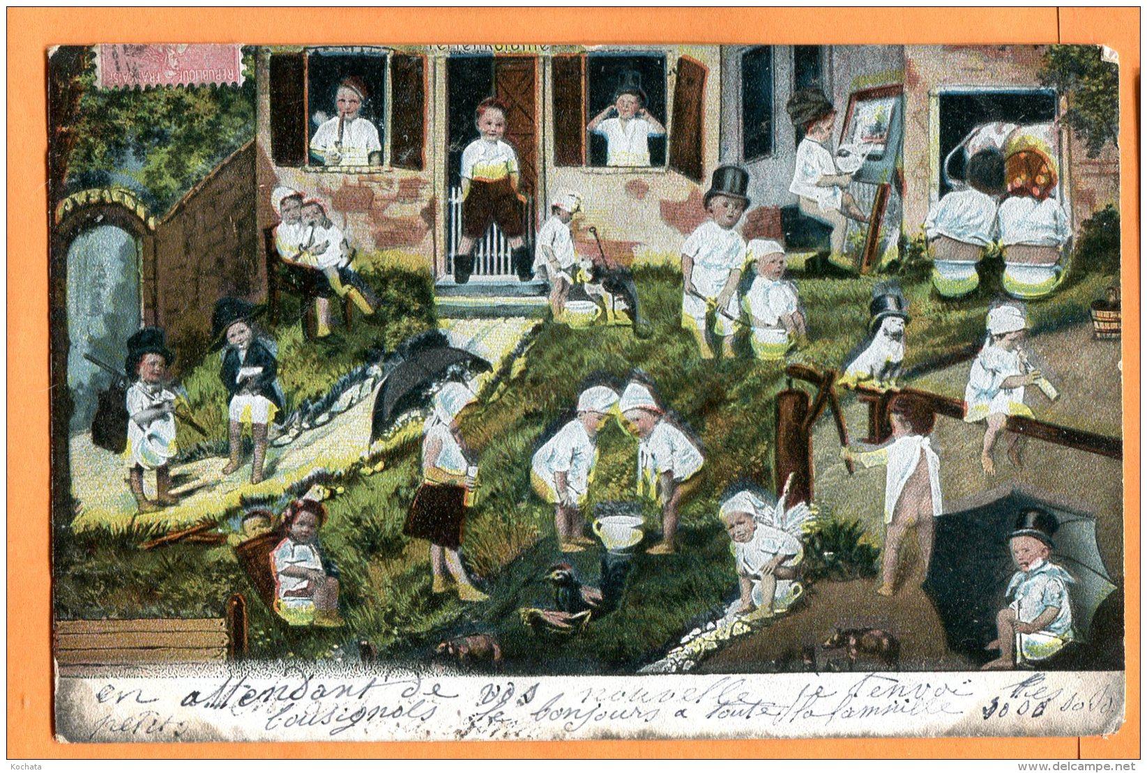 MADD141, Bébés,  Parapluie, Précurseur, Circulée 1904 - Neonati
