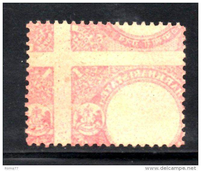 T174 - STATI INDIANI , CHARKHARI :  1 Rupia Con Decalco Del Rosso Spostato . Usato - Charkhari