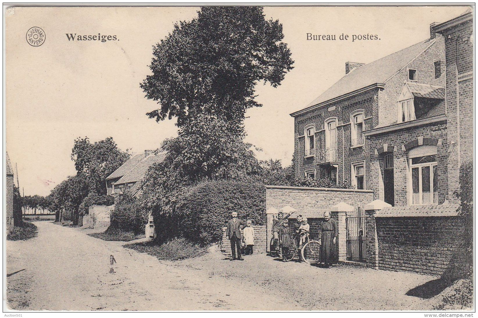 27043g  BUREAU DE POSTES - Wasseiges - 1920 - Wasseiges