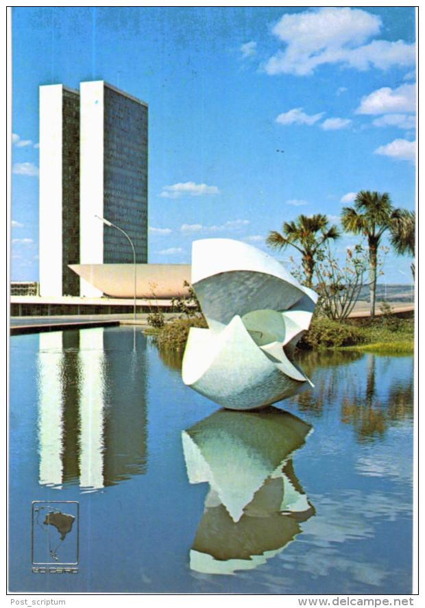 Amérique - Brésil - Brasil - Brasilia Meteoro De Bruno Giorgi E Palacio Do Congresso Nacional - Curitiba