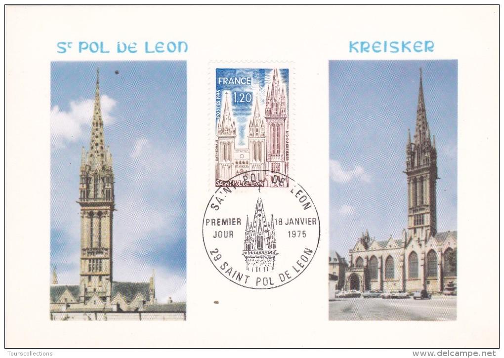 FRANCE @ SAINT POL DE LEON - N.D De Kreisker - Carte Maximum De 1975 - Cartoline Maximum