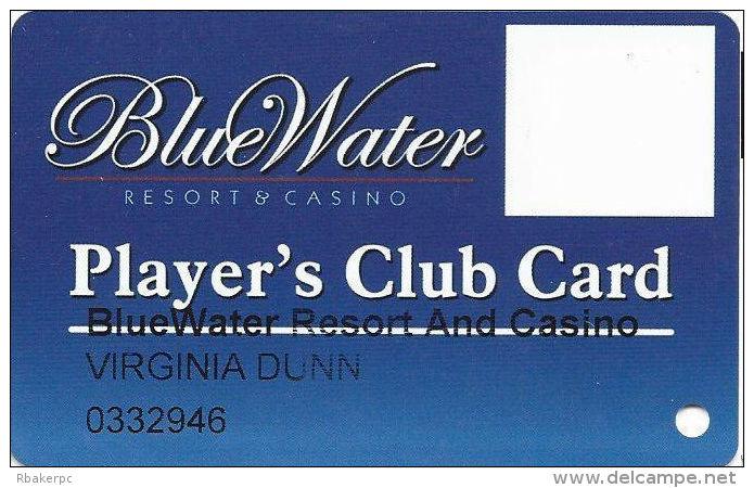 BlueWater Casino Parker, AZ - Slot Card - Www.ablecard.com Over Mag Stripe - Casino Cards