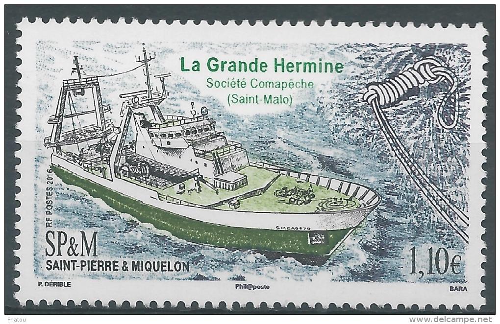 "Saint Pierre And Miquelon, Ship ""La Grande Hermine"", 2016, MNH VF - St.Pierre & Miquelon"