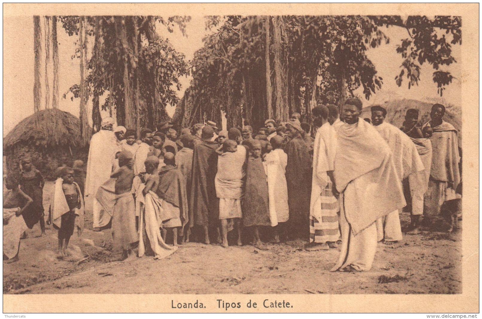 CPA ANGOLA LOANDA TIPOS DE CATETE - Angola