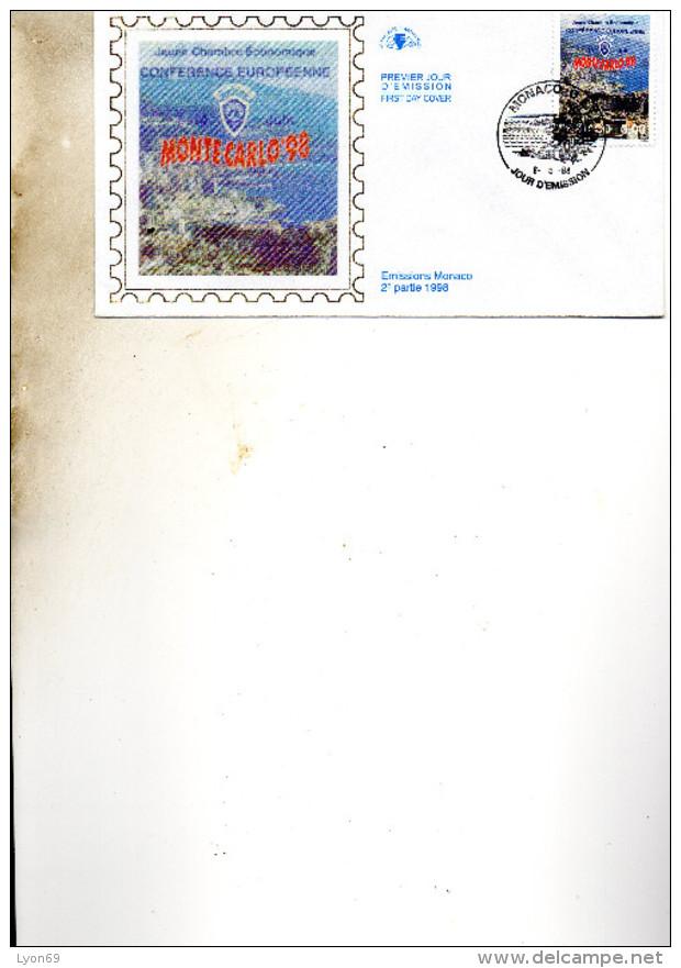 FDC MONACO    JEUNE CHAMBRE ECONOMIQUE  TIMBRE    N° YVERT ET TELLIER  2157   1998 - FDC