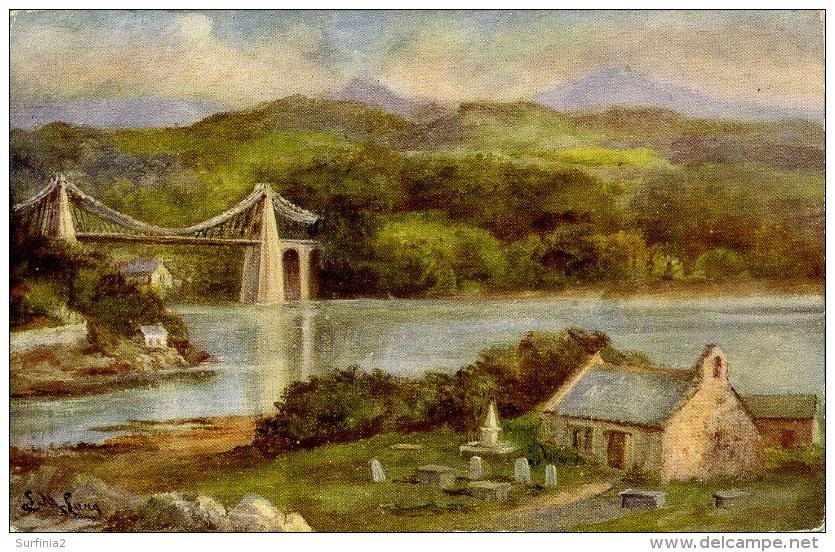 MISCELLANEOUS ART - MENAI STRAITS - L M LONG Art162 - Anglesey