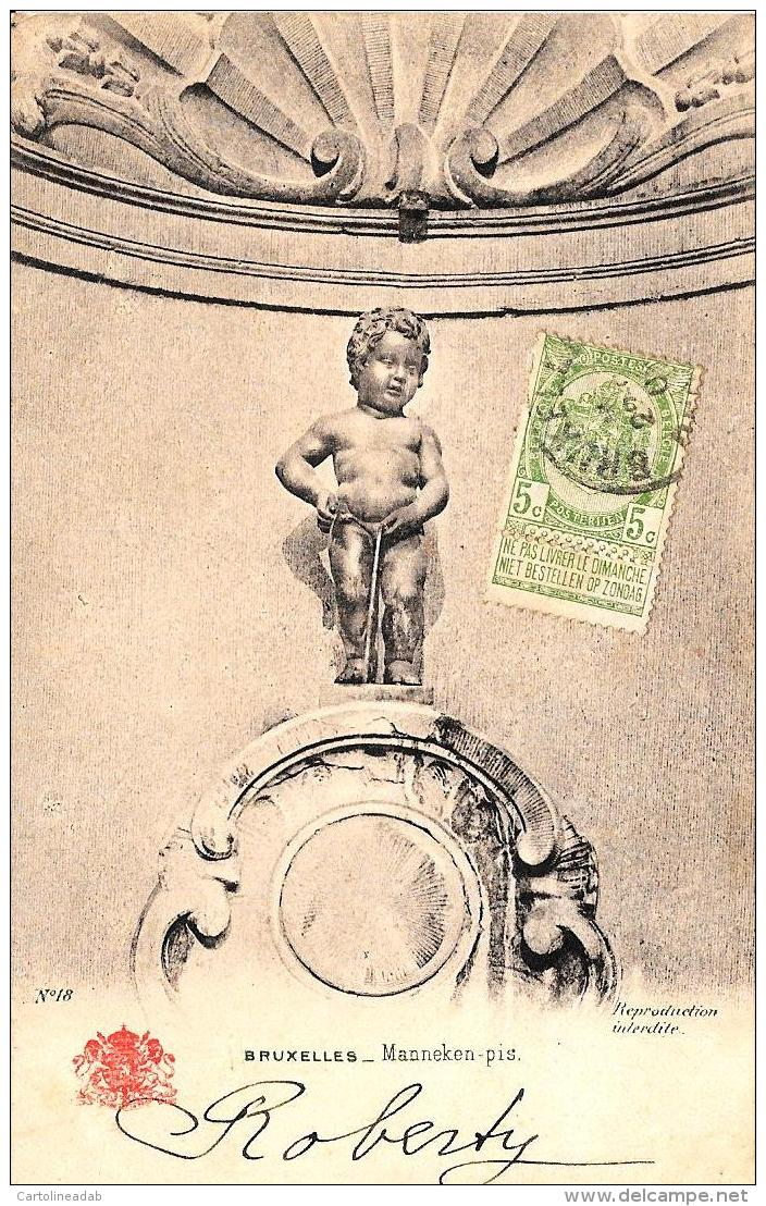 [DC2901] CPA - BELGIO - BRUXELLES - MANNEKEN- Viaggiata - Old Postcard - Monumenti, Edifici