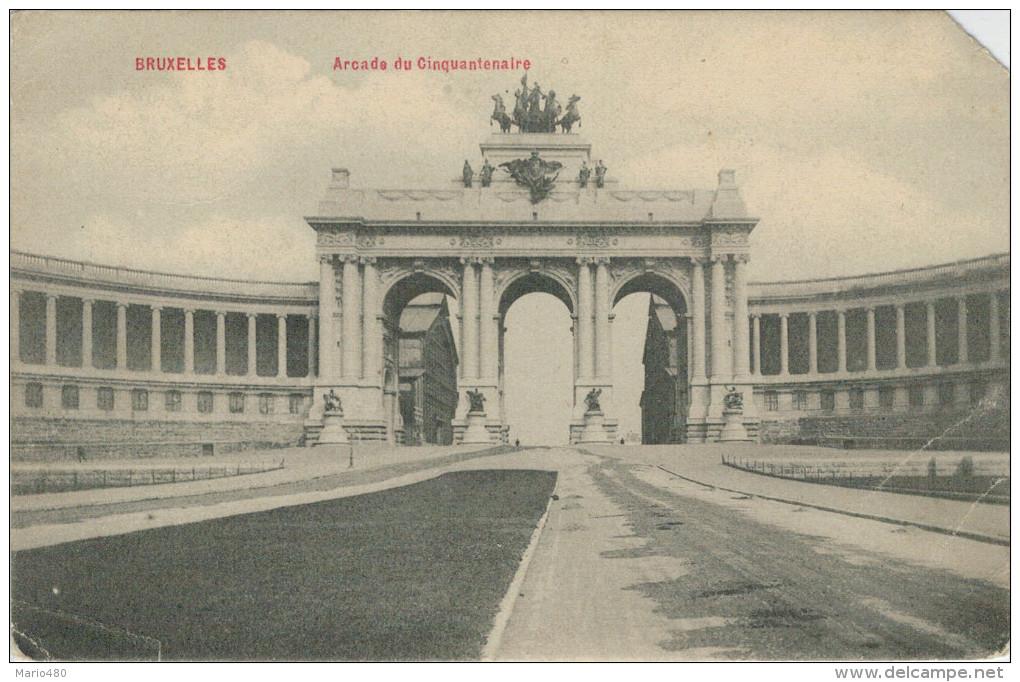 BRUXELLES   ARCADE  DU  CINQUANTENAIRE  (VIAGGIATA) - Belgio