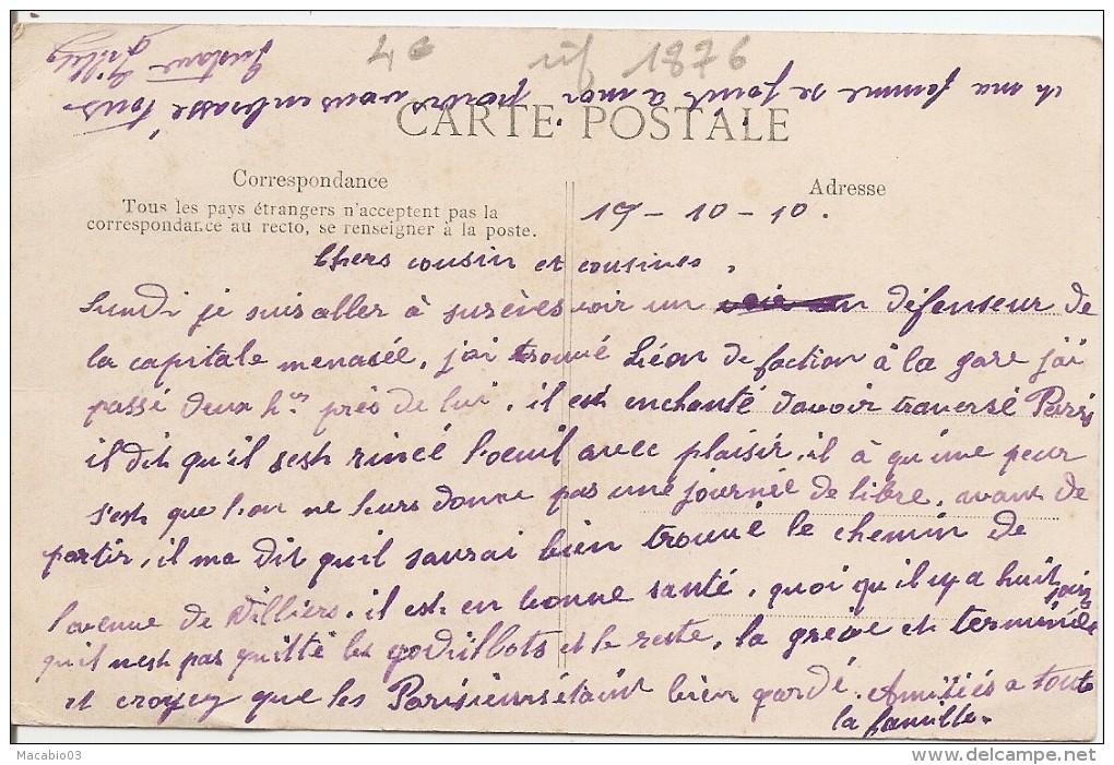 Grève Des Cheminots Du Nord  :  Cabine D'aiguillage Poste Occupés Par Les Soldats       Réf 1876 - Grèves