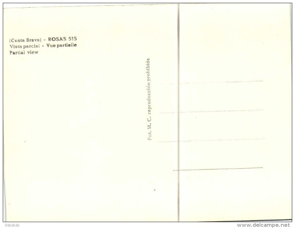 (Costa Brava) ROSAS  Vista Parcial  Recto Verso - Gerona