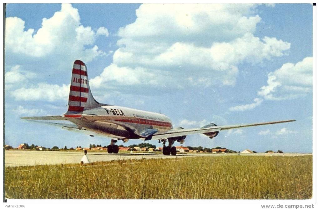 CPA  Quadrimoteur DOUGLAS D.C.4, Cie Air Algérie  4644 - 1946-....: Era Moderna