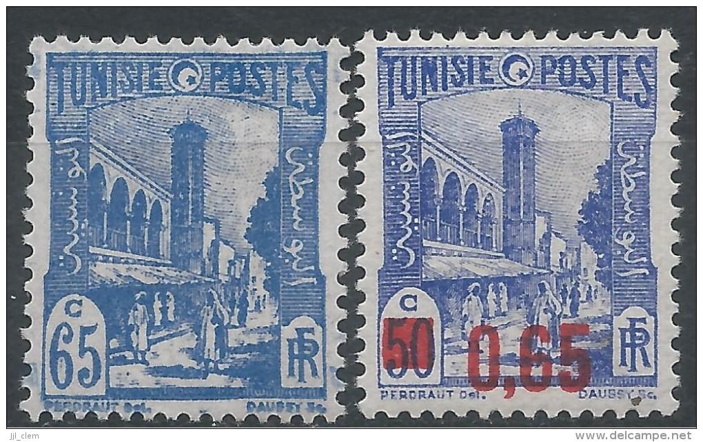Tunisie N° 181A-182 * Neuf - Tunisie (1888-1955)