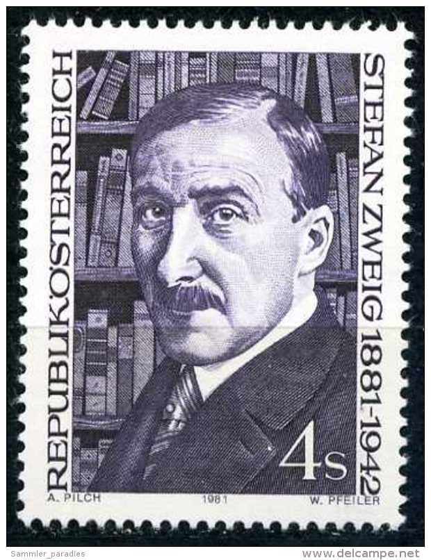 Österreich - Michel 1692 - ** Postfrisch (E) - Stefan Zweig - 1945-.... 2ème République
