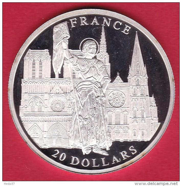 Libéria - 20 $ Argent - France - 2001 - FDC - Liberia