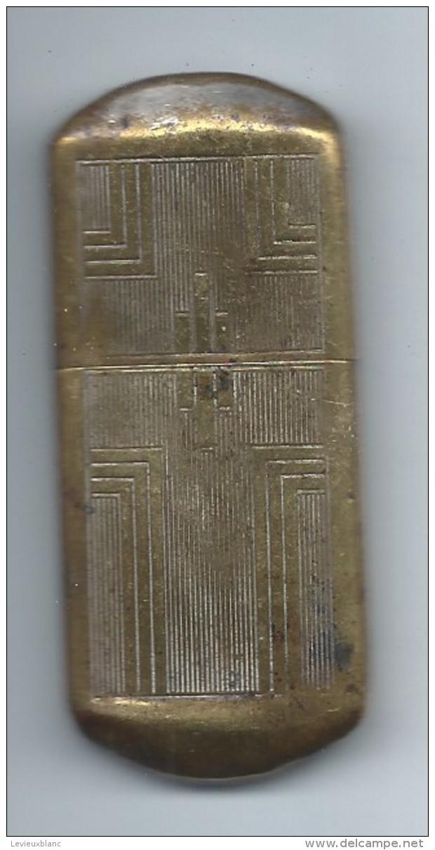 """Briquet De Poche """" Tempête""""/Laiton /Ancien/Vers 1910-1930               OBJ130 - Autres"""