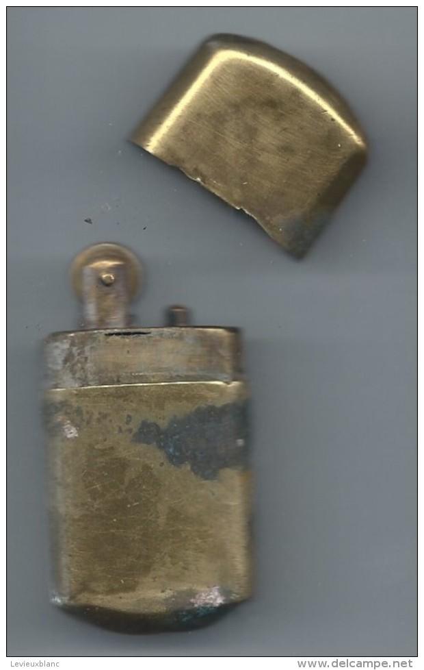 """Briquet De Poche """" Tempête""""/Laiton /Ancien/Vers 1910-1930               OBJ132 - Autres"""