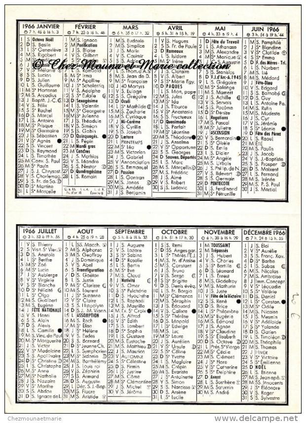 L ECHO - CHAQUE MATIN DERNIERE HEURE LYONNAISE - 1966 - CALENDRIER - Calendriers