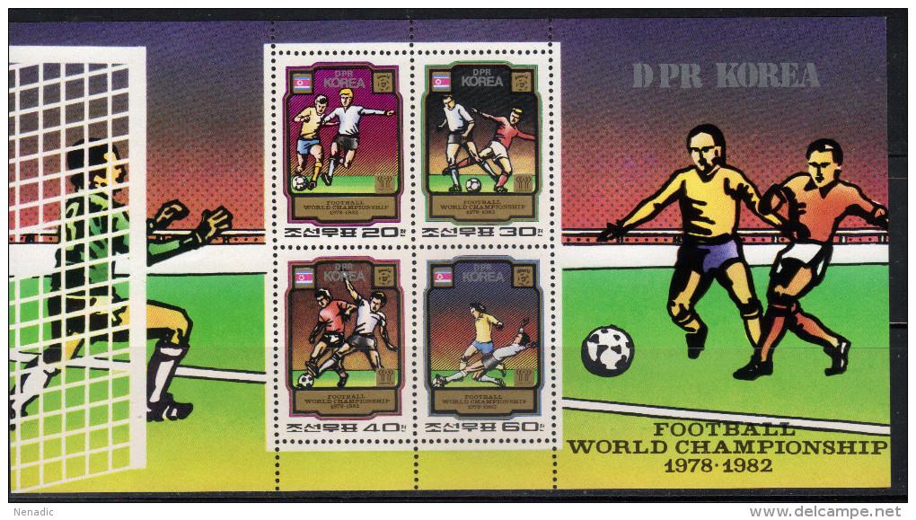 Korea,North Football-World Championship 1978-1982 1980,block,MNH - Corée Du Nord