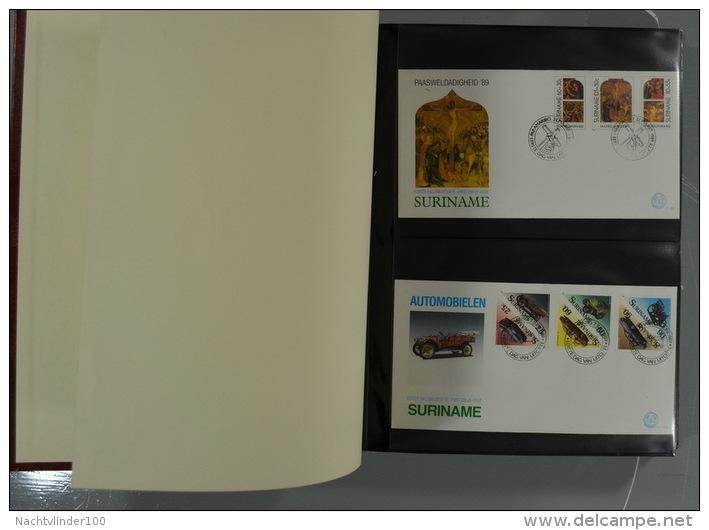 SURINAME FDC´S COLLECTION IN 3 IMPORTA PSI II ALBUMS FAUNA BIRDS FLORA TRANSPORT ONLY 10% CV! Ndf Onbeschreven/unwritten - Postzegels