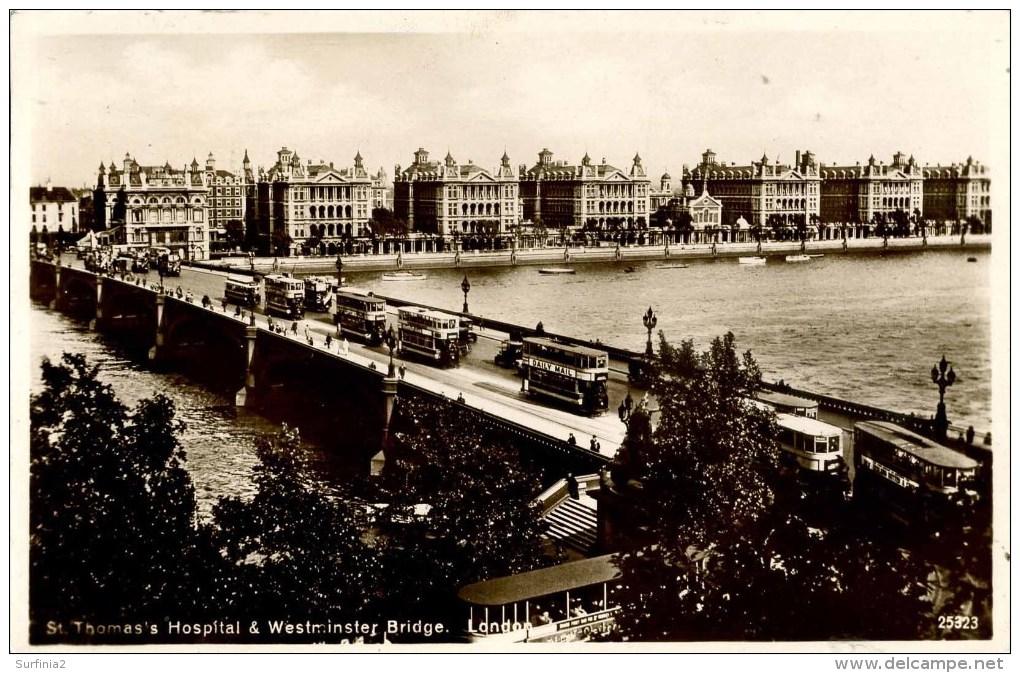 LONDON - ST THOMAS´S HOSPITAL AND WESTMINSTER BRIDGE RP Lo1061 - London