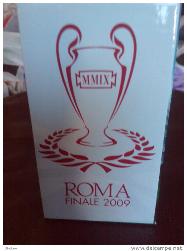 RARE COLLECTABLE ORIGINAL HEINEKEN GLASSES 2 PIECES SET FINALE CHAMPIONS LEAGUE ROME 2009 BRAND NEW - Gläser