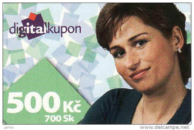 Tschechische Rep. - Czechia + Slovakia, Digital Satelliten TV Coupon, Nominal 500 Kč Or 700 Sk - Kronen - Other Collections