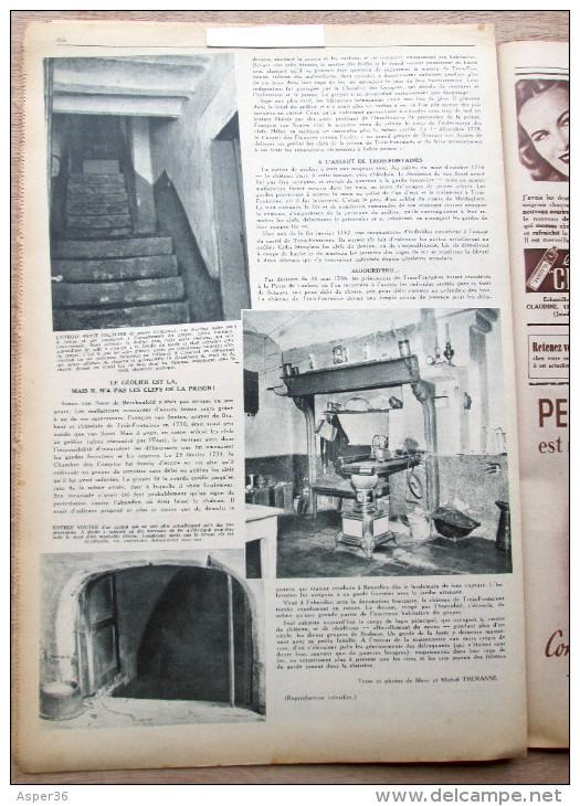 """Magazine Avec Article """"Château De Trois-Fontaines Ou Dry Borren, Auderghem"""" 1946 - Collections"""