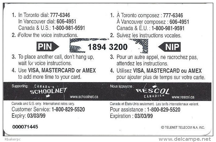 Celebrate Southampton Homecoming 140 Years 1858-1998 Limited Edition PrePaid Calling Card - Canada