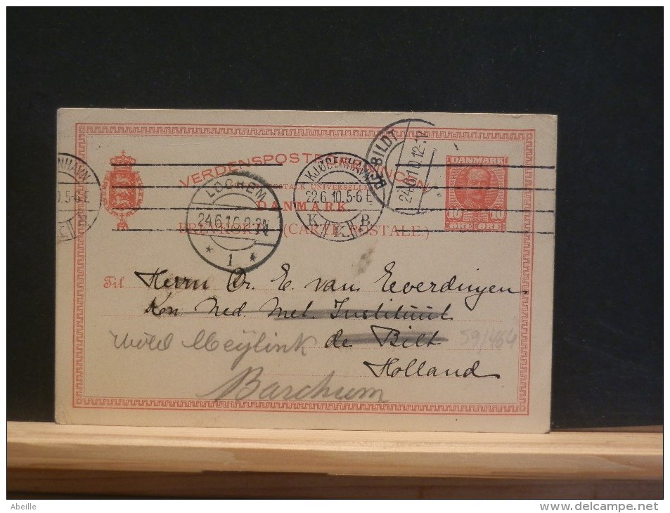 59/464  CP  TO HOLLAND 1910 - Postal Stationery
