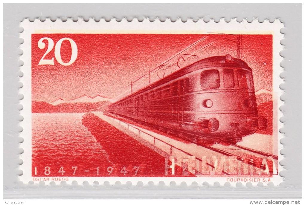 Schweiz 1947 #279 ** Abart 10 Druck Verschoben Attest Rellstab - Variétés