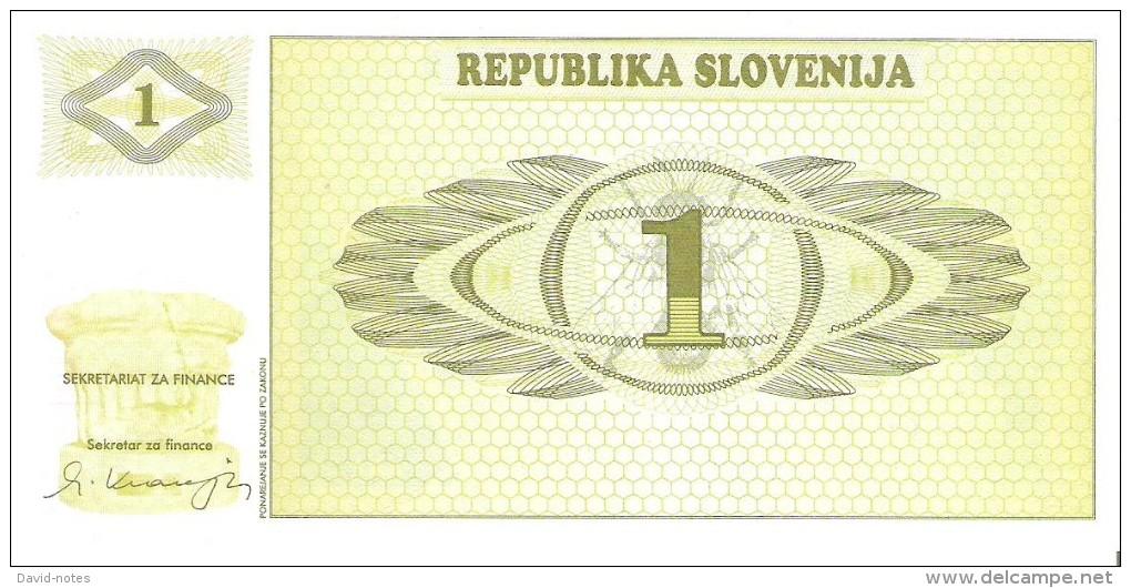Slovenia - Pick 1 - 1 Tolar 1990 - Unc - Slovénie
