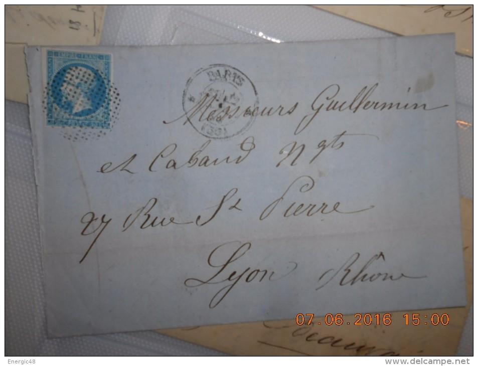 Lot Du 09-06-2016_27_liquidation .  Obit. Bouchon  Sur N°13!!!!superbe. Sur Lettre - 1853-1860 Napoleon III