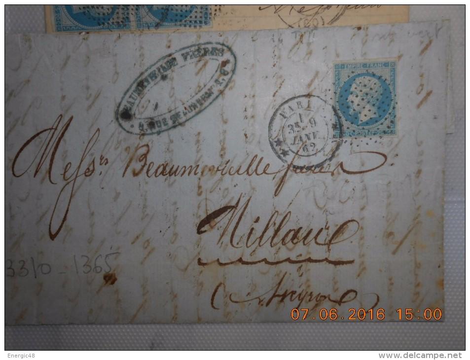 Lot Du 09-06-2016_28_liquidation .  Obit. Bouchon  Sur N°14!!!!superbe. Sur Lettre - 1853-1860 Napoleon III