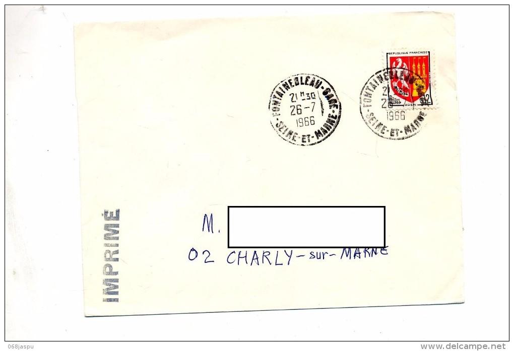Lettre Cachet Fontainebleau Gare - Storia Postale