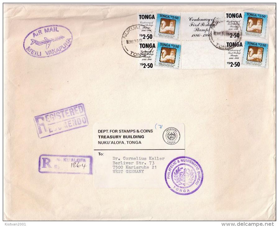 Postal History Cover: Superb Tonga R Cover - Tonga (1970-...)