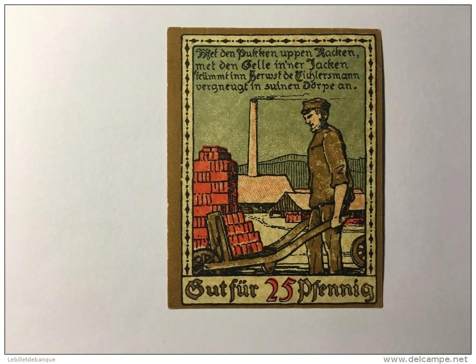 Allemagne Notgeld Lippe 25 Pfennig  1921 NEUF - [ 3] 1918-1933 : République De Weimar