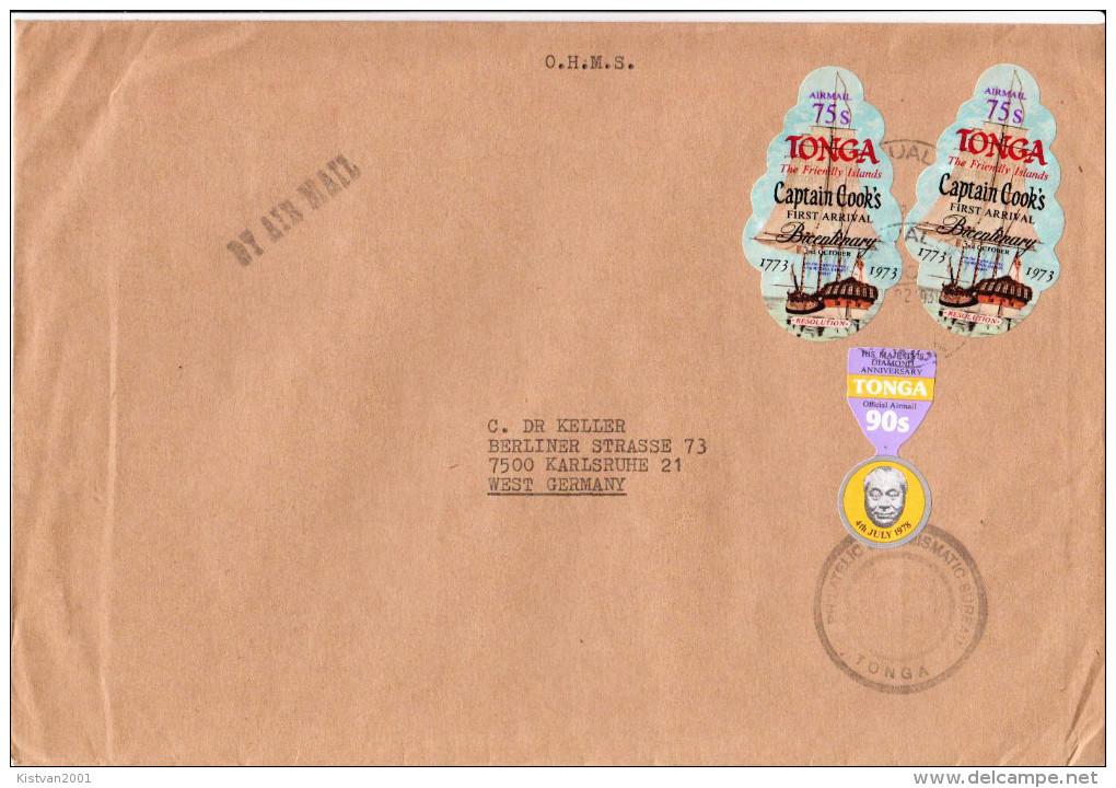 Postal History Cover: Superb Tonga Cover - Tonga (1970-...)
