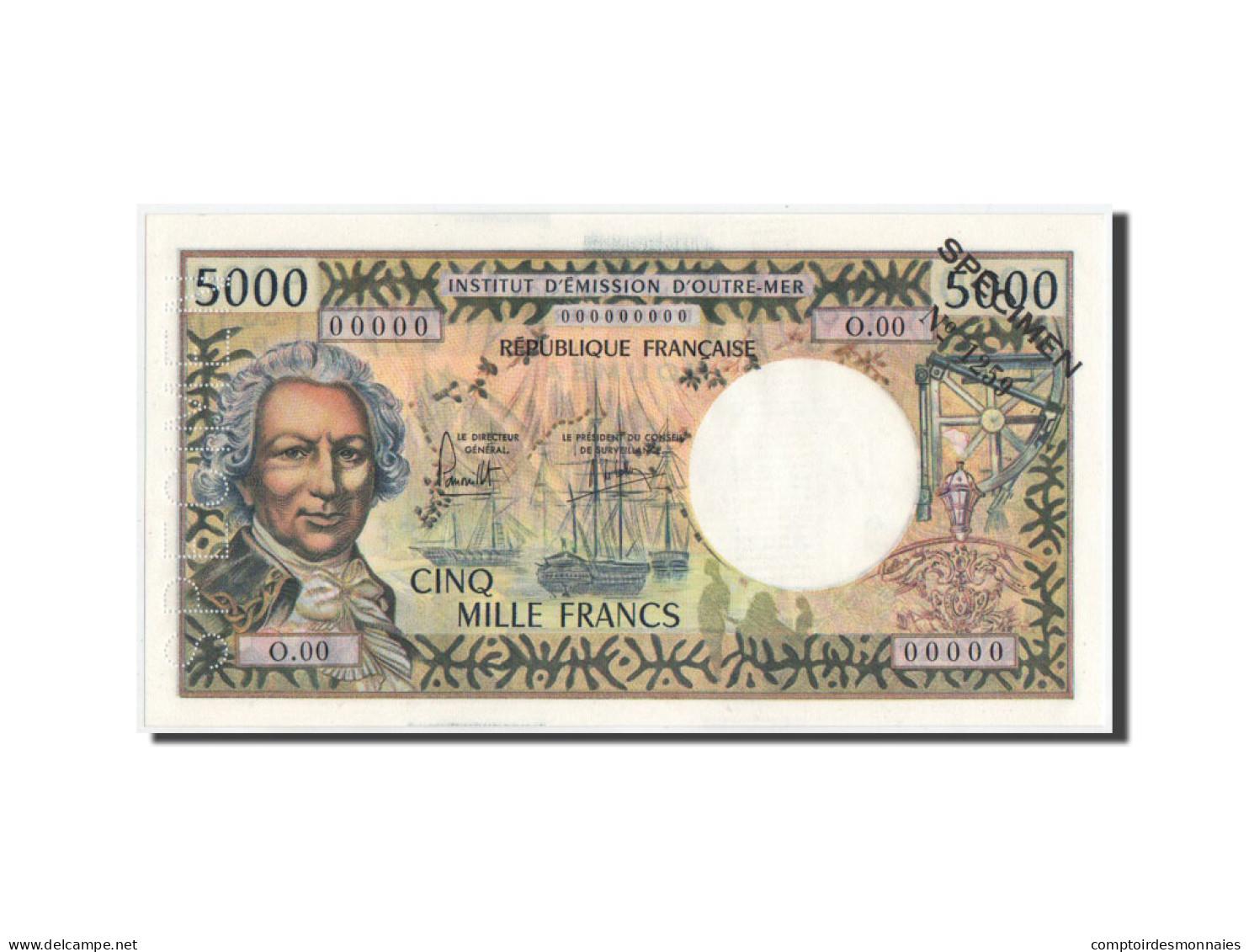 Nouvelle-Calédonie, 5000 Francs, 1975, SPECIMEN, KM:65s, NEUF - Nouméa (New Caledonia 1873-1985)