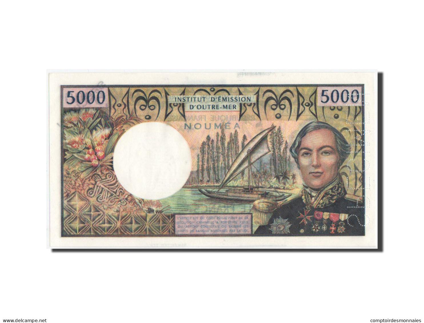 Nouvelle-Calédonie, 5000 Francs, 1975, SPECIMEN, KM:65s, NEUF - Nouméa (Neukaledonien 1873-1985)